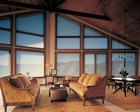 Trapezoid Blinds window treatment talk covering shaped windows in salt