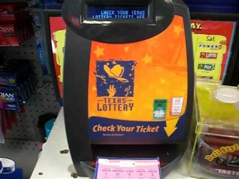 using the lottery check a ticket machine to scan a