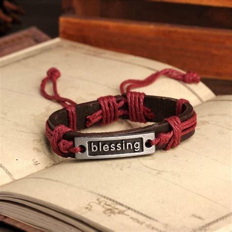 Handmade Bracelets Australia - handmade pu leather bracelet blessing tribal bohemian lb