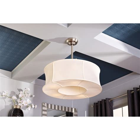 bedroom ceiling fans with lights and remote allen roth sun valley 30 in brushed nickel downrod mount