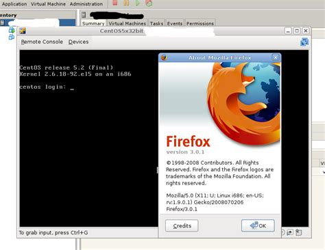 vmware remote console how to open vmware server remote console with firefox 3 0