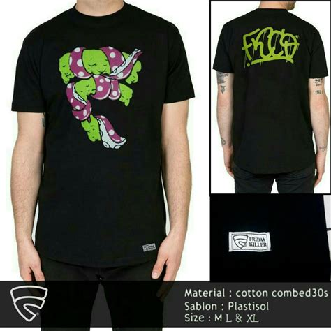 Kaos Fridaykiller Black clothing kaos dan jaket friday killer original
