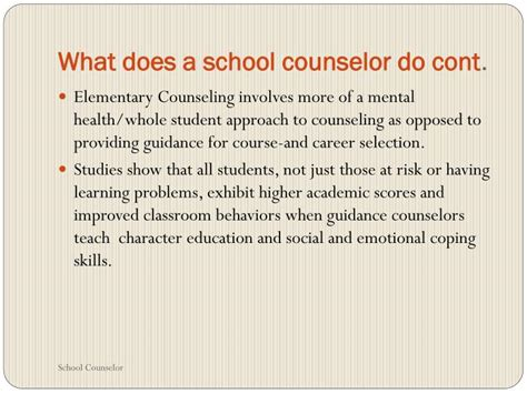 what does a school counselor do ppt what does a school counselor do powerpoint