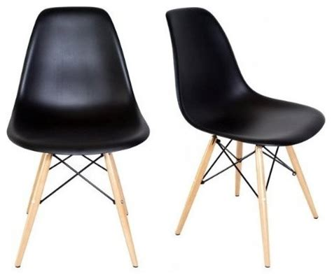 Mid Century Modern Plastic Chairs by Set Of 2 Dsw Black Mid Century Modern Plastic Dining Shell