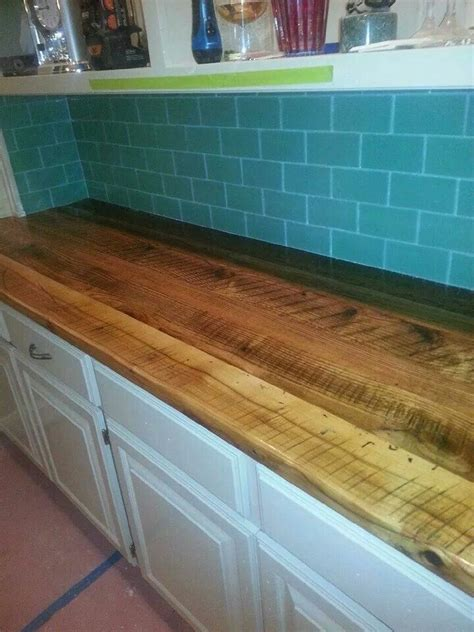 Barn Wood Countertops by Not A Bar But A Pretty Countertop Tom Built From Wood We