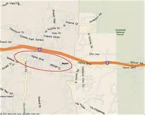 map of alpine california 91901