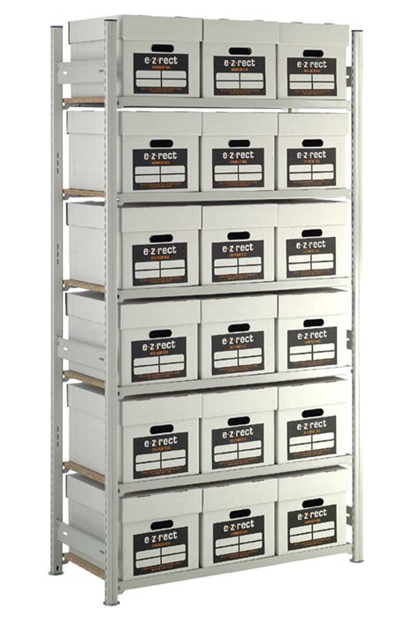 Archive Storage Racking by Ezr Archive Storage Unit With 18 Document Boxes Included
