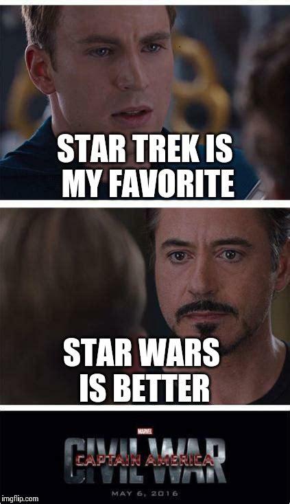 Star Wars Star Trek Meme - civil war imgflip