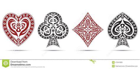 spades hearts diamonds clubs poker cards symbols