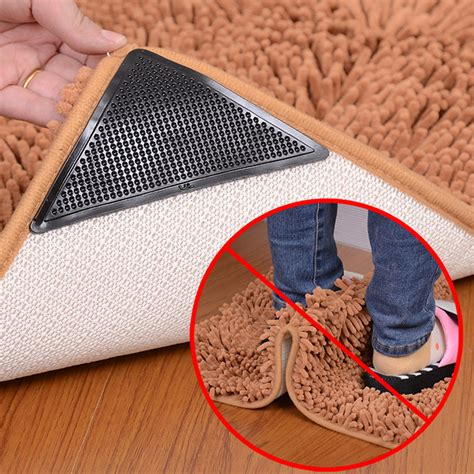 Rug Grippers by 4x Rug Carpet Mat Grippers Anti Slip Anti Skid Reusable