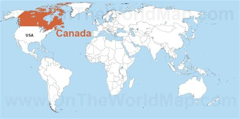 map of the world canada the gallery for gt canada world map