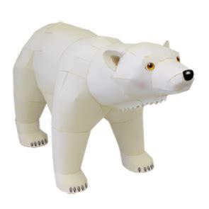 como aser un oso polar maqueta oso polar de papel 3d polo norte pinterest oso polar