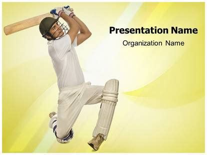 cricket themes for ppt cricket bats man powerpoint template background