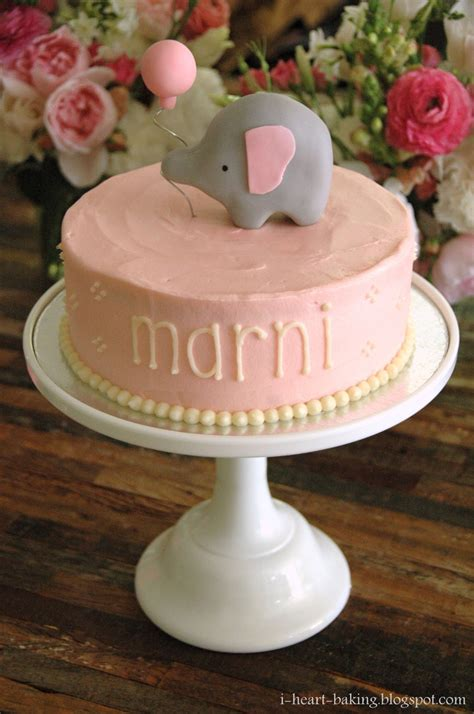 i baking elephant baby shower cake