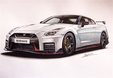 nissan skyline drawing by nissan gtr nismo 2017 drawing supercar by filo