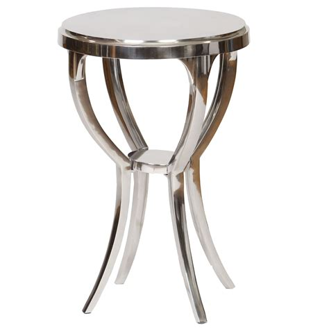 iron accent tables pictured is the cast aluminum clark accent table with