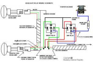 Car Headlight Circuit Diagram Upgrading Headlights Vintage Mustang Forums