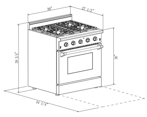 kitchen dimensions inches 30 in 4 2 cu ft stainless steel gas range with convection