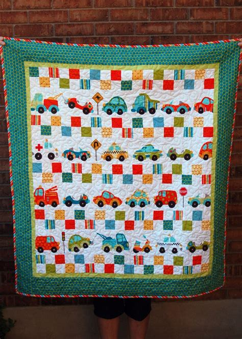 Pink Polka Dot Quilt by Trucks And Cars Quilt Pink Polka Dot Creations