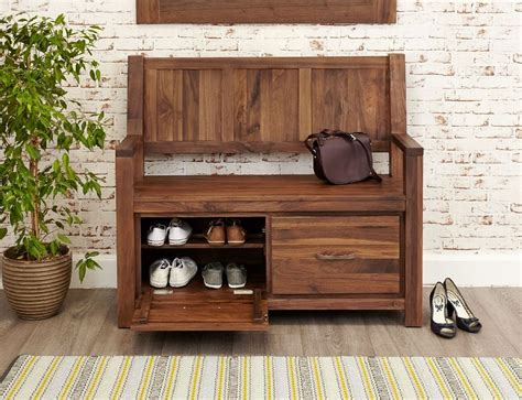monks bench with storage buy baumhaus mayan walnut monks bench with shoe storage online cfs uk