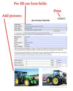 Free Printable Card Making Templates - tractor bill of sale free blank form