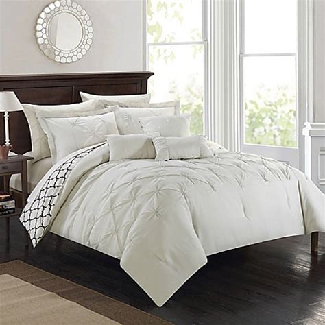 beige comforter set king buy chic home plymouth 10 piece king comforter set in