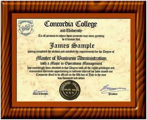 Concordia Mba Cost by U S Nationally Accredited Prior Learning