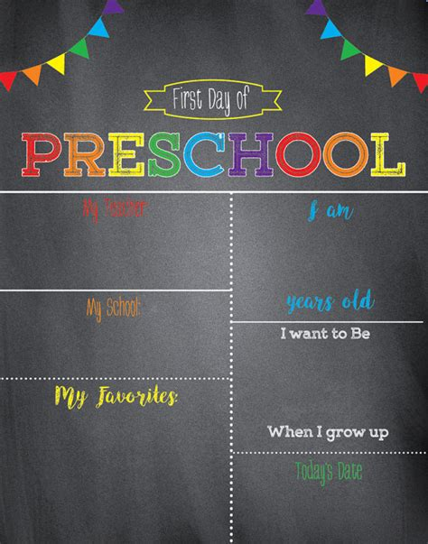 day of school template 24 colorful day of school signs baby