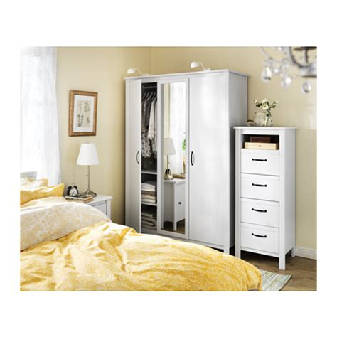 brusali ikea brusali wardrobe with 3 doors white 131x190 cm ikea