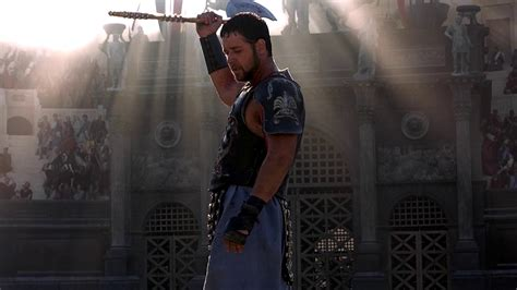 gladiator film questions maximus russell crowe tigris of gaul axe prop store