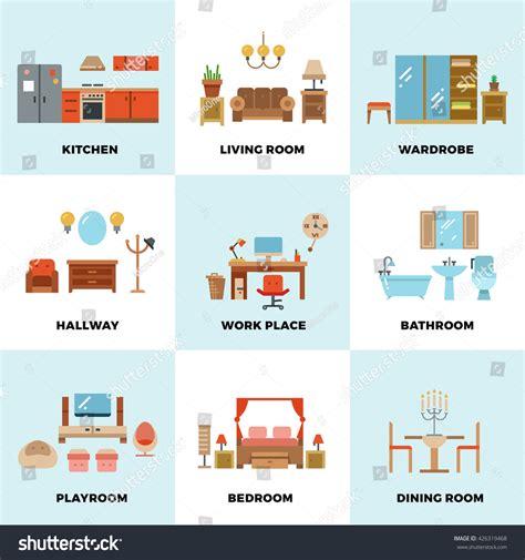 Living Room Bedroom Kitchen Kids Bathroom Stock Vector 426319468 Shutterstock