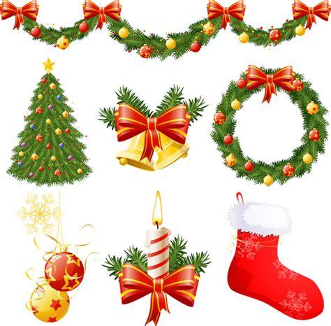 christmas decorations vector free vector 4vector