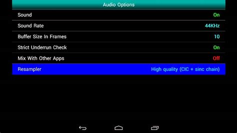 gbc roms for android gbc emu emulator 1 5 12 settings configuration for android nexus 7 720p hd nintendo gbc