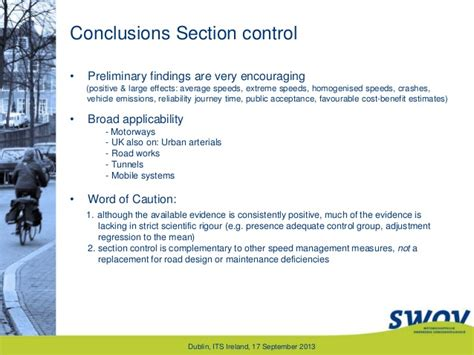 section control scientific evidence on road safety effects of section