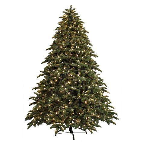home accents holiday 75 frasier fir ge 7 5 ft just cut noble fir ez light artificial tree with 800 color choice led