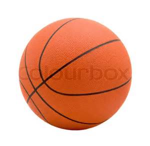 what color is a basketball for in basketball of orange on white background