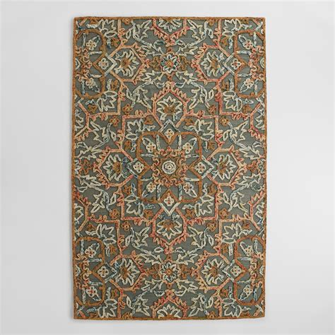 market rugs embroidered floral tufted wool area rug world market
