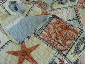 Seashell Comforter Coastal Collection Sea Life Shells Beach Nautical Cotton