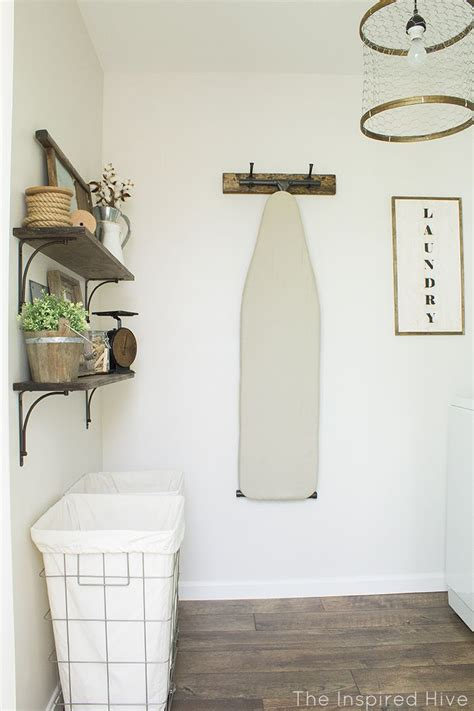 Decorating Laundry Room Walls A Rustic Industrial Style Laundry Makeover With Lots Of Easy Diy Decor Ideas Lasting Laundry