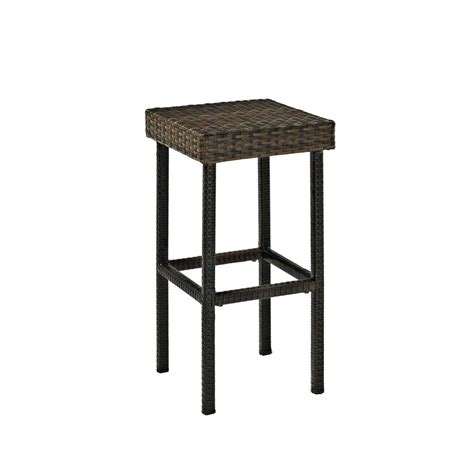 outdoor bar height stools palm harbor outdoor wicker 29 quot bar height stool set of 2