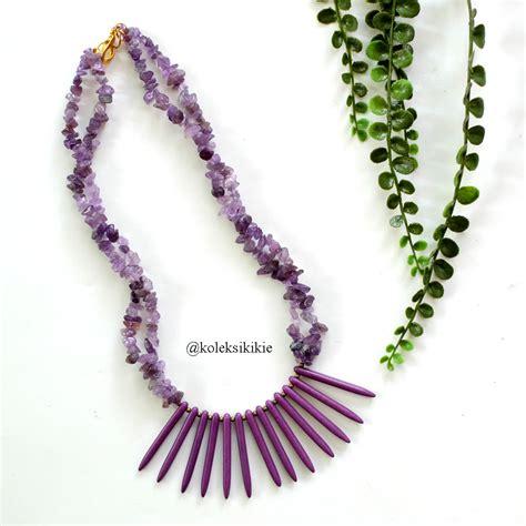 Kalung Ungu kalung batu baruga ungu koleksikikie