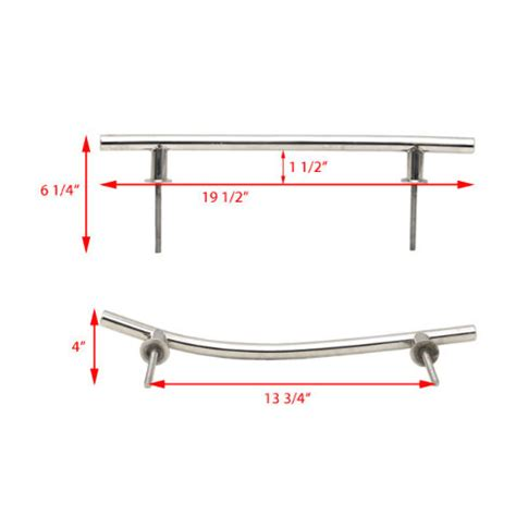 bow boat rails boat bow rail doral stainless steel 19 1 2 inch pair