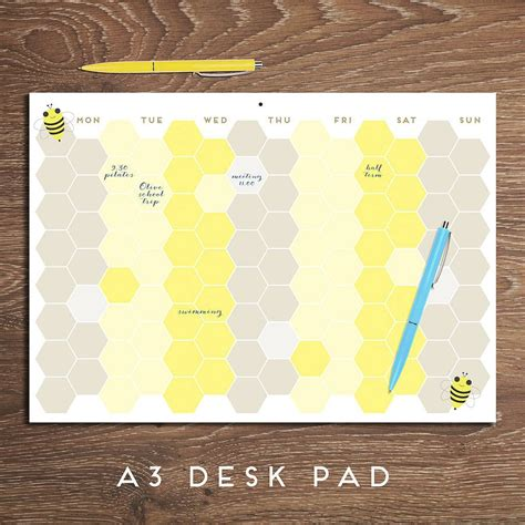 a3 desk planner pad busy bee weekly planner pad a3 weekly planner cubicle