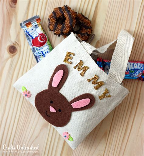 personalized crafts easter bags personalized bunny treat bag tutorial