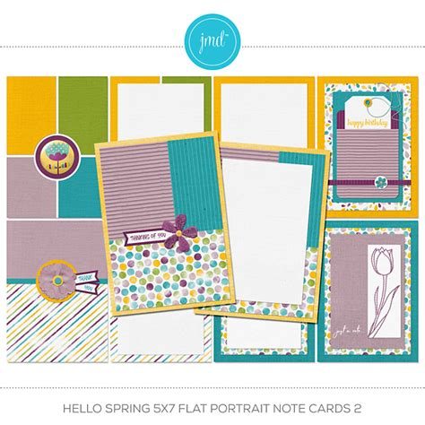 indesign template for 5x7 note card hello 5x7 flat note cards mega bundle digital
