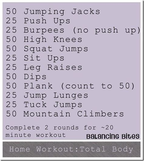home workout total workout ideas fitness