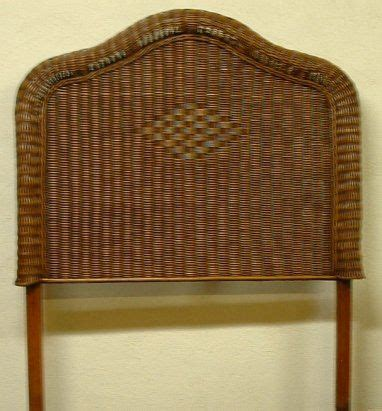 twin wicker headboard hton bay single twin headboard wicker bedroom