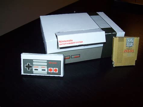 papercraft nintendo system by bake a saur on deviantart