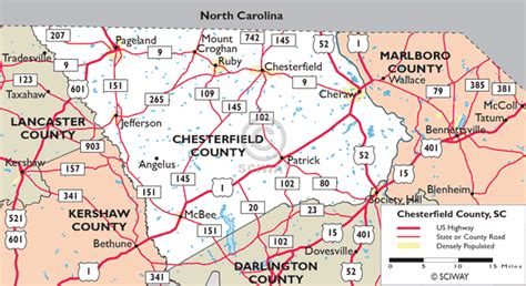 Chesterfield County Sc Records Maps Of Chesterfield County South Carolina