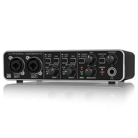 Behringer Audio Interface behringer u phoria umc204hd usb audio interface b stock